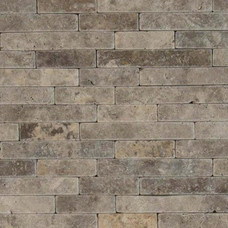 Silver Travertine Backsplash: Buy Silver Ash 8x18 Tumbled Veneer Mosaic