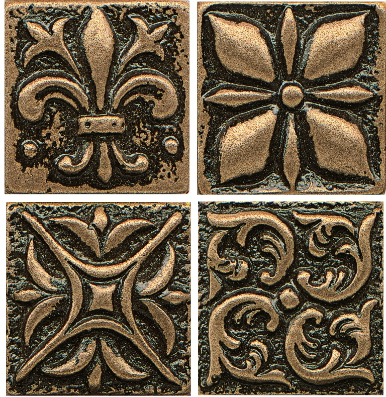 Free Shipping - Ambiance 4x4 Bronze Insert Collection