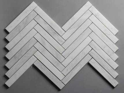 Carrara Winter Frost Elongated Chevron