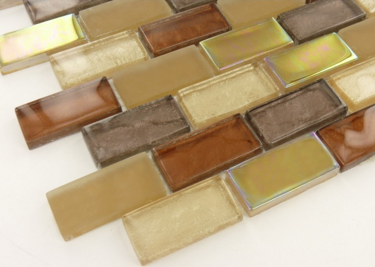 Brown Blend Shimmer Brick 1x2x8mm Mosaic