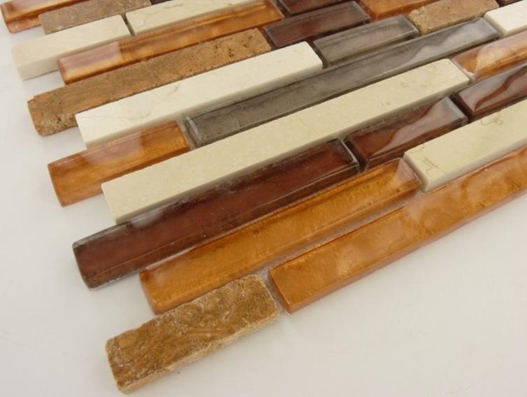 Rustic Copper 12x12 Stone/Glass Blend