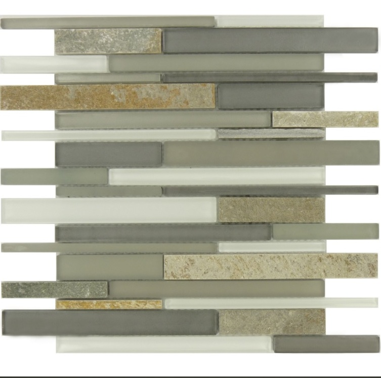 Modesto Interlocking Glass/Stone 8mm Blend