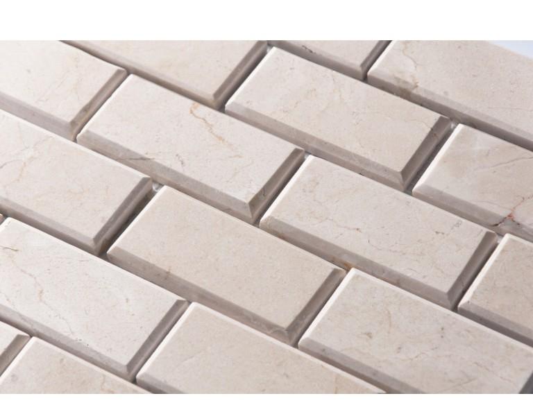 Crema Marfil 2x4 Bevel Brick Honed