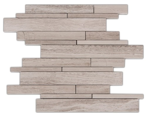 White Oak 12x12 Interlocking Strip Mosaic