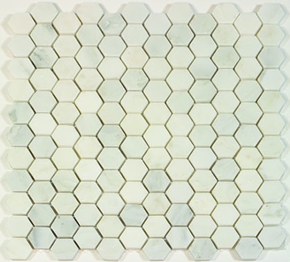 Oriental White Hexagon 1x1 Polished Mosaic