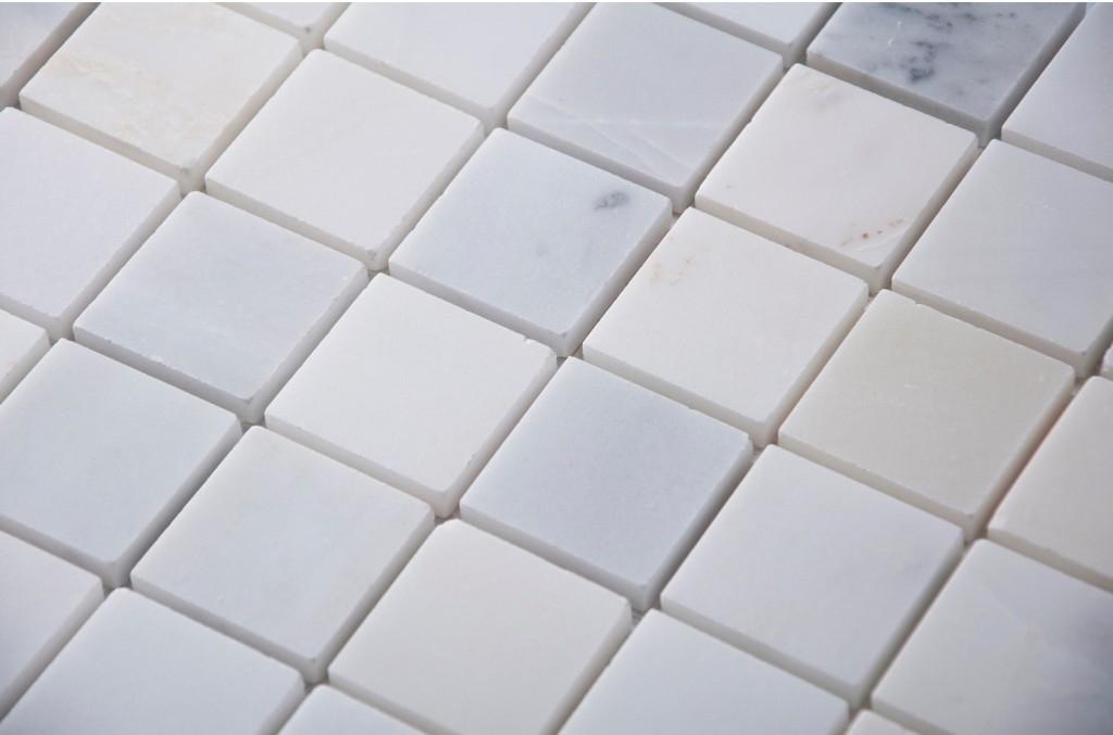 Oriental White 2x2 Honed Mosaic