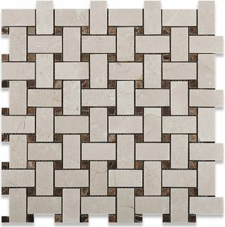 Crema Marfil 12x12 Polished Basketweave