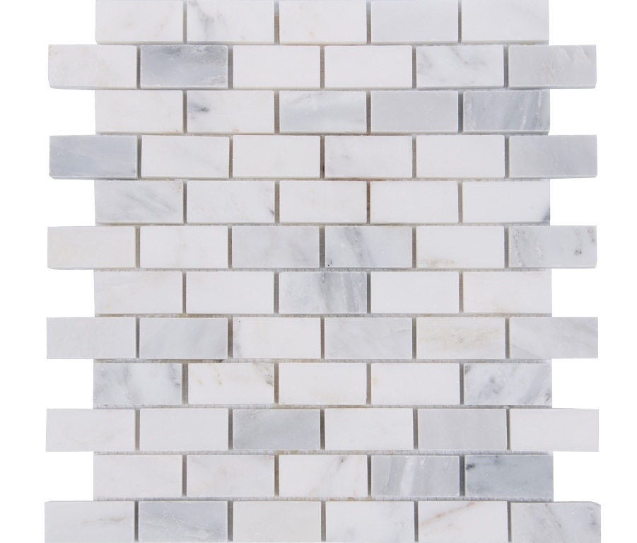 Oriental White 1x2 Polished Brick Pattern