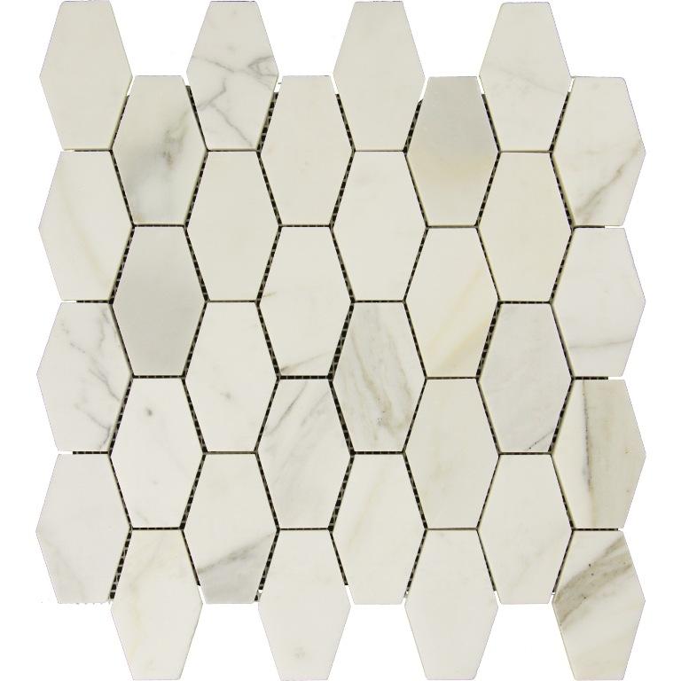 Calacatta Gold Elongated Hexagon Mosaic Tile
