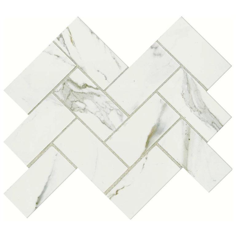 FREE SHIPPING - Calacatta Gold 2X6 Polished Herringbone
