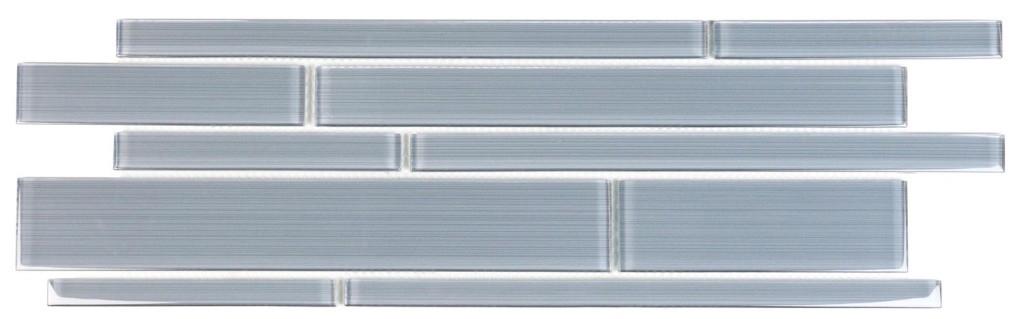 Azure Denim 6x18 Interlocking Glass Mosaic