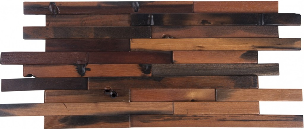 Random Plank 3D 12x24 Antique Wood Panel Mosaic