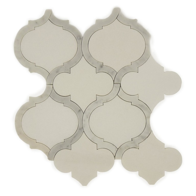 Marrakech Blanco 9x10 Waterjet Mosaic