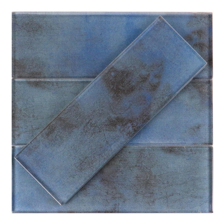 Caribbean Blue Cobalt Dark Glass 3x9 Subway