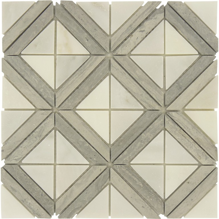 Rubik Square 12x12 Marble Mosaic Tile