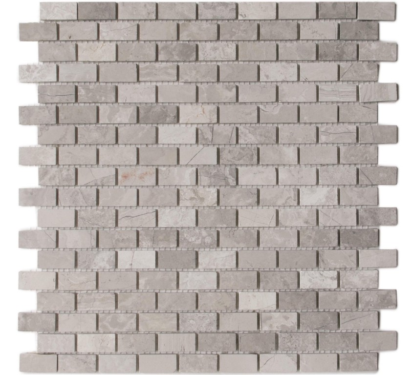White Oak 12x12 Mini Brick Polished