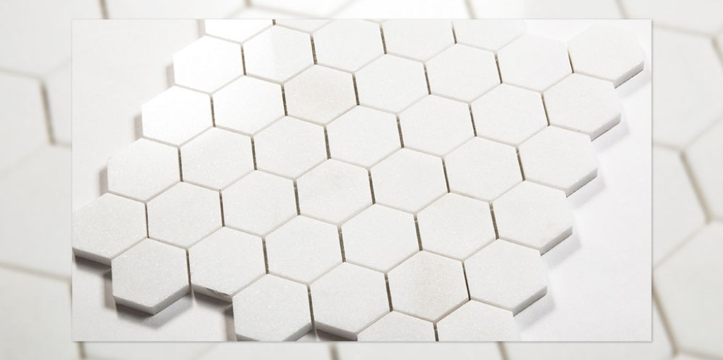 Thassos Hexagon Polished Mosaic Tile - Collection