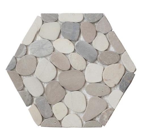 Athens Honeycomb Halo Pebble Tile