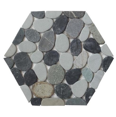 Genesis Honeycomb Halo Pebble Tile