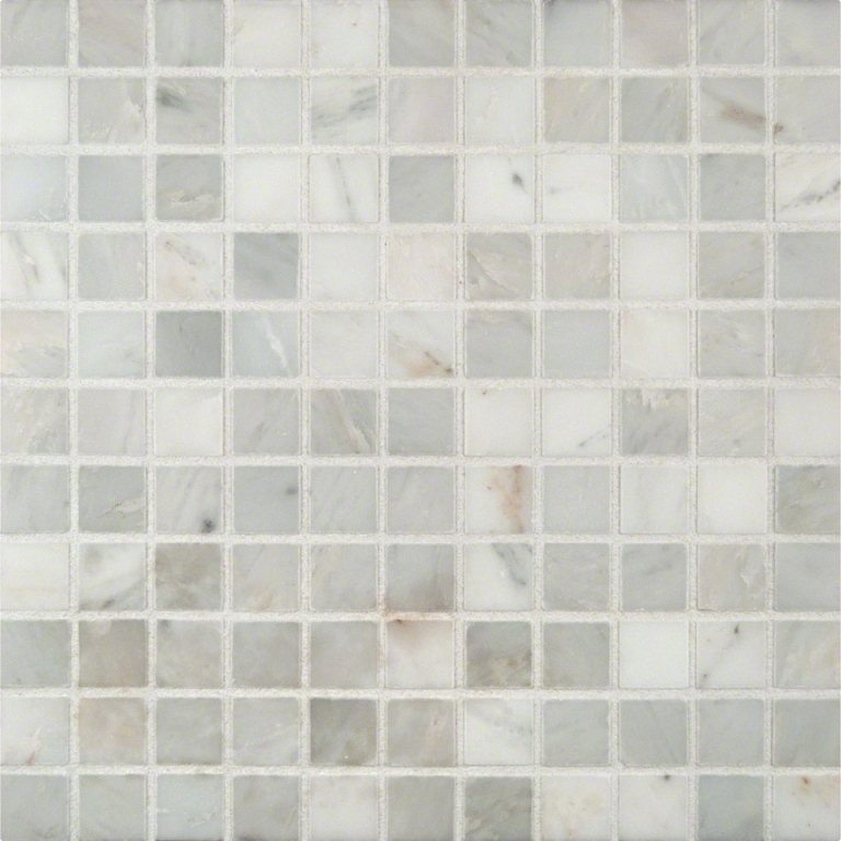 Arabescato Carrara White 1x1 Honed