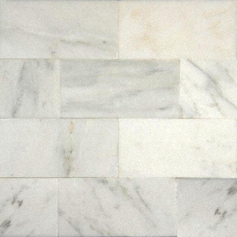Carrara White 3X6 Polished Subway