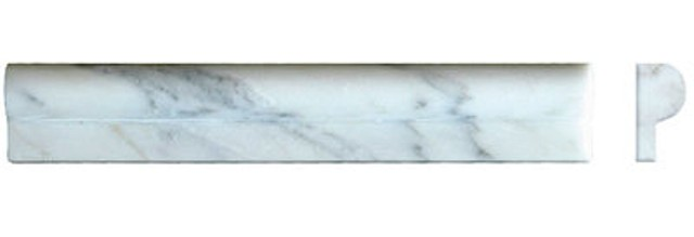 Arabescato Carrara 1X2X12 Rail Polished