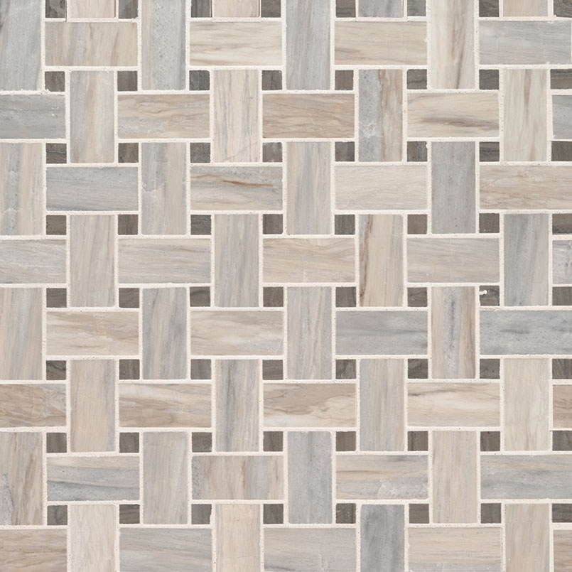 Angora 12x12 Basketweave Polished