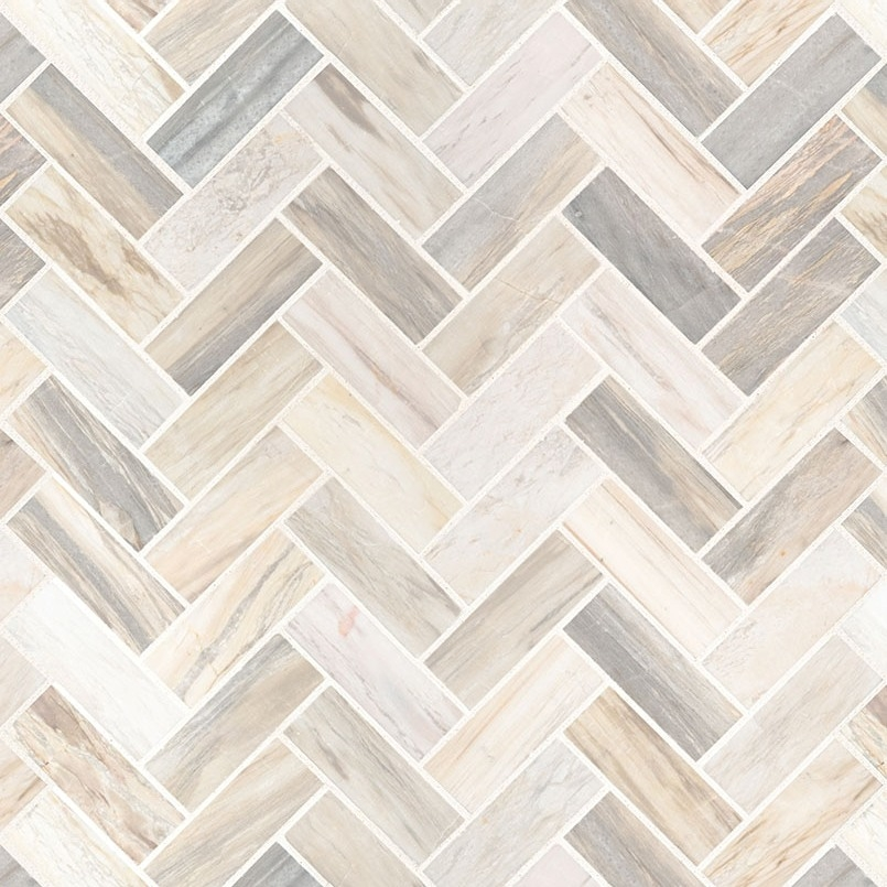 Angora 12x12 Herringbone Polished