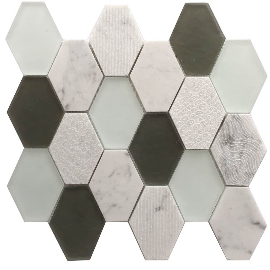 Anthracite GeoHex 12x13 Interlocking Mosaic