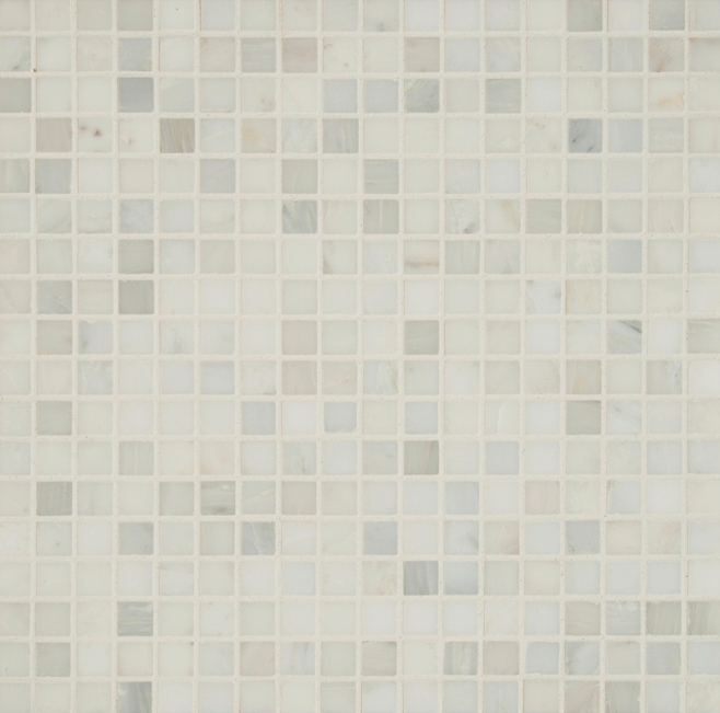 Arabescato Carrara 5/8 Honed Mosaic