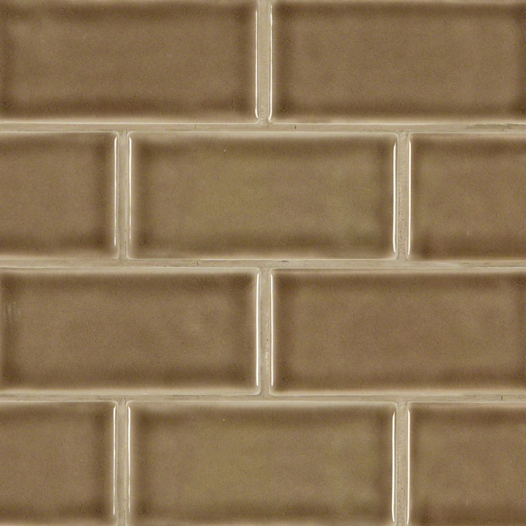 Artisan Taupe Glazed 3x6 Handcrafted Subway Tile