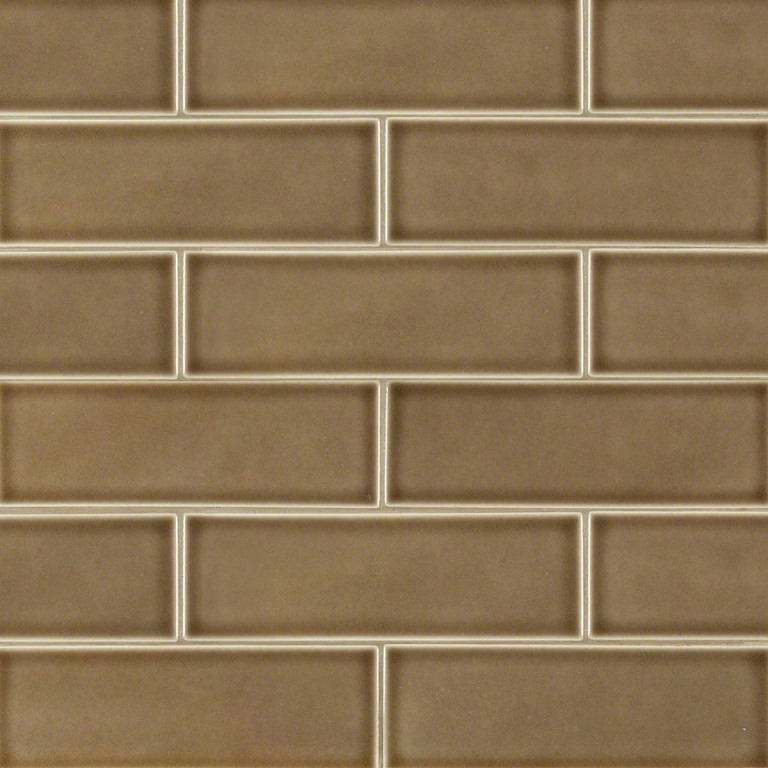 Artisan Taupe Glazed 4x12 Handcrafted Subway Tile