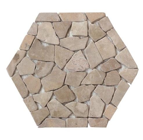 Cappuccino Honeycomb Halo Pebble Tile