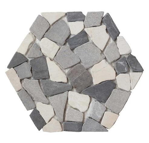 Urban Honeycomb Halo Pebble Tile
