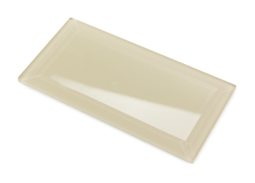 Bevel Nude 4X8 Block Glass Subway Tile