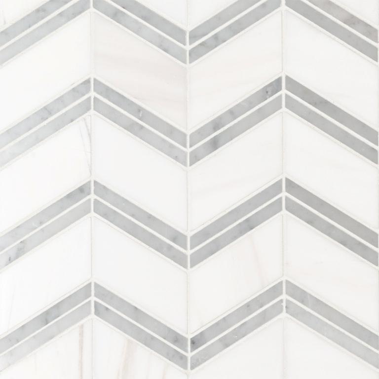 Bianco Dolomite Cheveron Polished