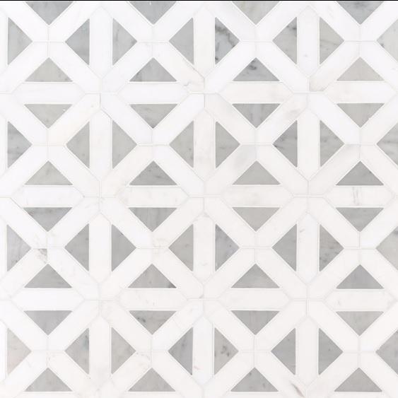 Bianco Dolomite Geometrica 12x12 Polished