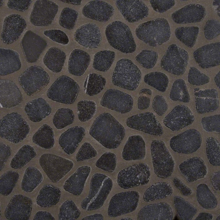 Black Marble Pebbles Tumbled Pattern 10mm