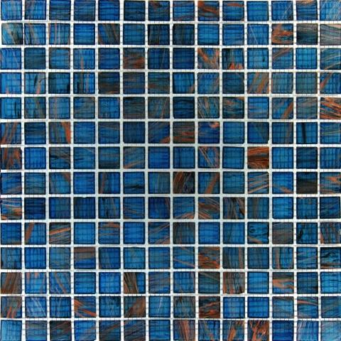Blue Iridescent 12x12x4MM Mosaic