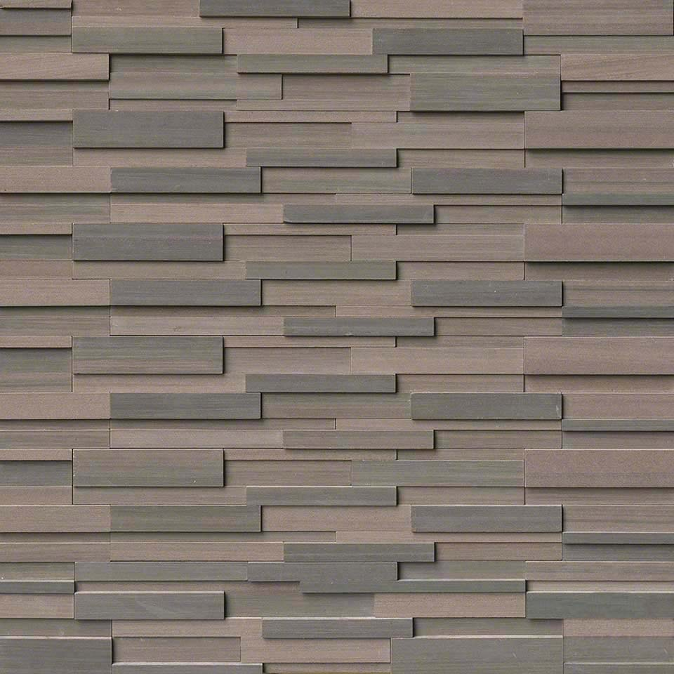 Brown Wave 6x24 3D Honed Panel