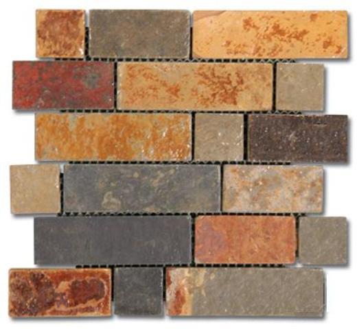 California Gold Brick Pattern Tumbled
