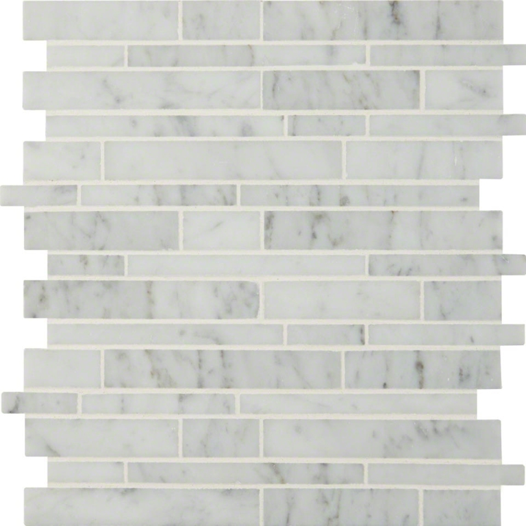 Carrara White RSP Interlocking Polished Mosaic