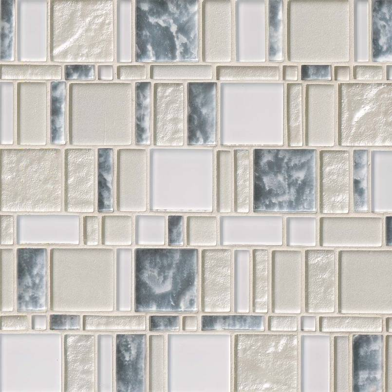 FREE SHIPPING - Chantilly Stax 12x12 Glass Mosaic