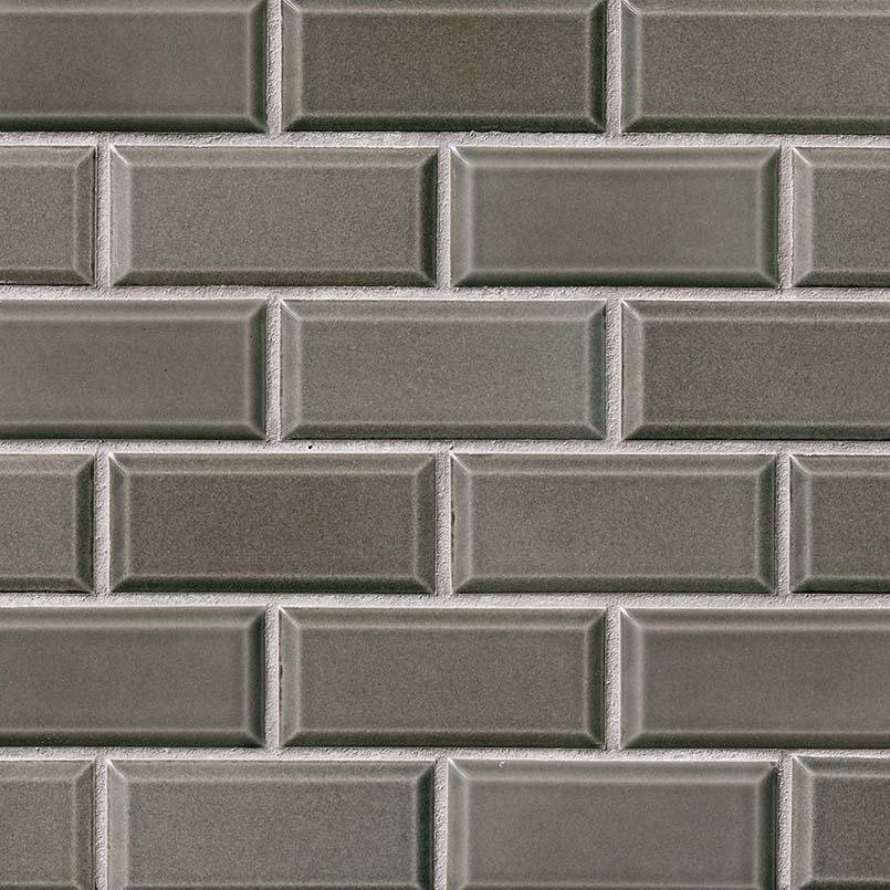 Charcoal Bevel 2x4 Subway Glossy