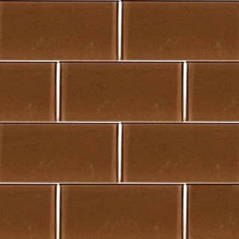Cinnamon 3x6x8MM Glass Subway Tile