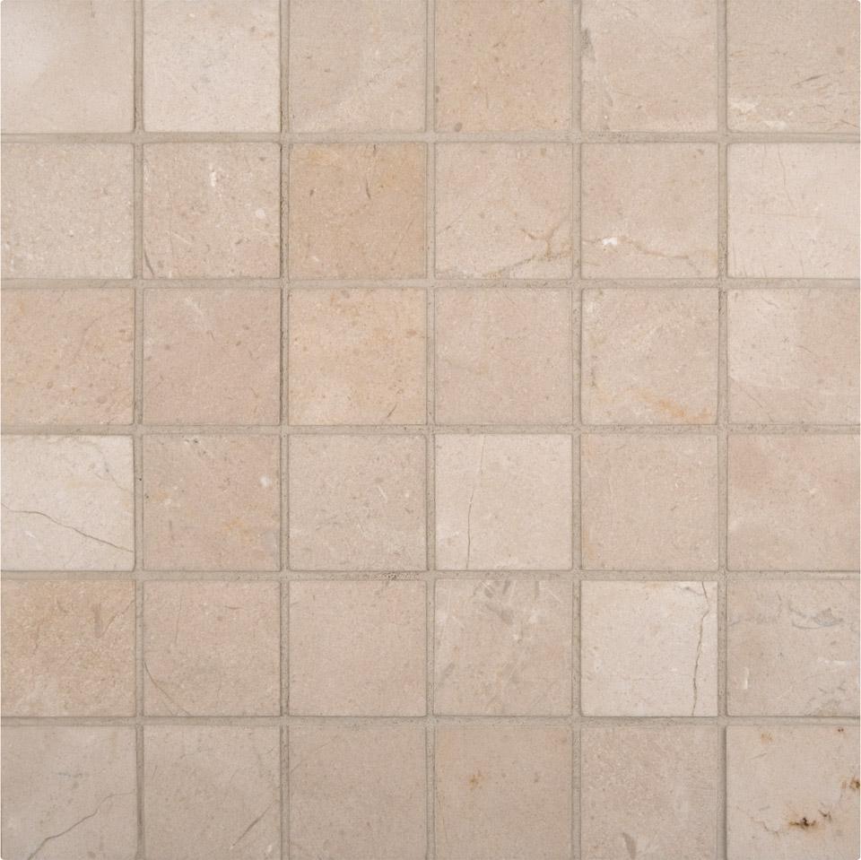 Crema Marfil 2x2 Honed Mosaic