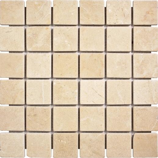 Crema Marfil 2x2 Tumbled Mosaic
