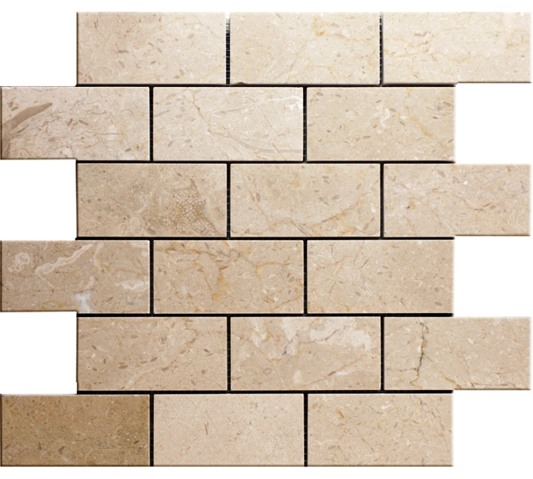 FREE SHIPPING - Crema Marfil 2x4 Brick Honed