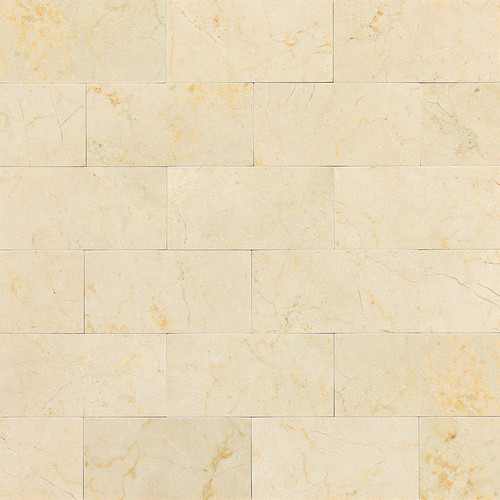 Wall And Tile Crema Marfil 3x6 Subway Honed