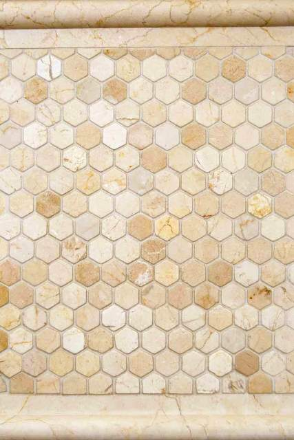 Crema Marfil Hexagon 1x1 Tumbled